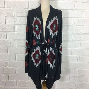 LUCKY | Lucky Lotus Navy embroidered Cardi Large